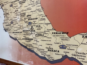 Tiny state of Tlaxcala in the center of the photo