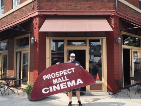 Levin with Prospect Mall Sign