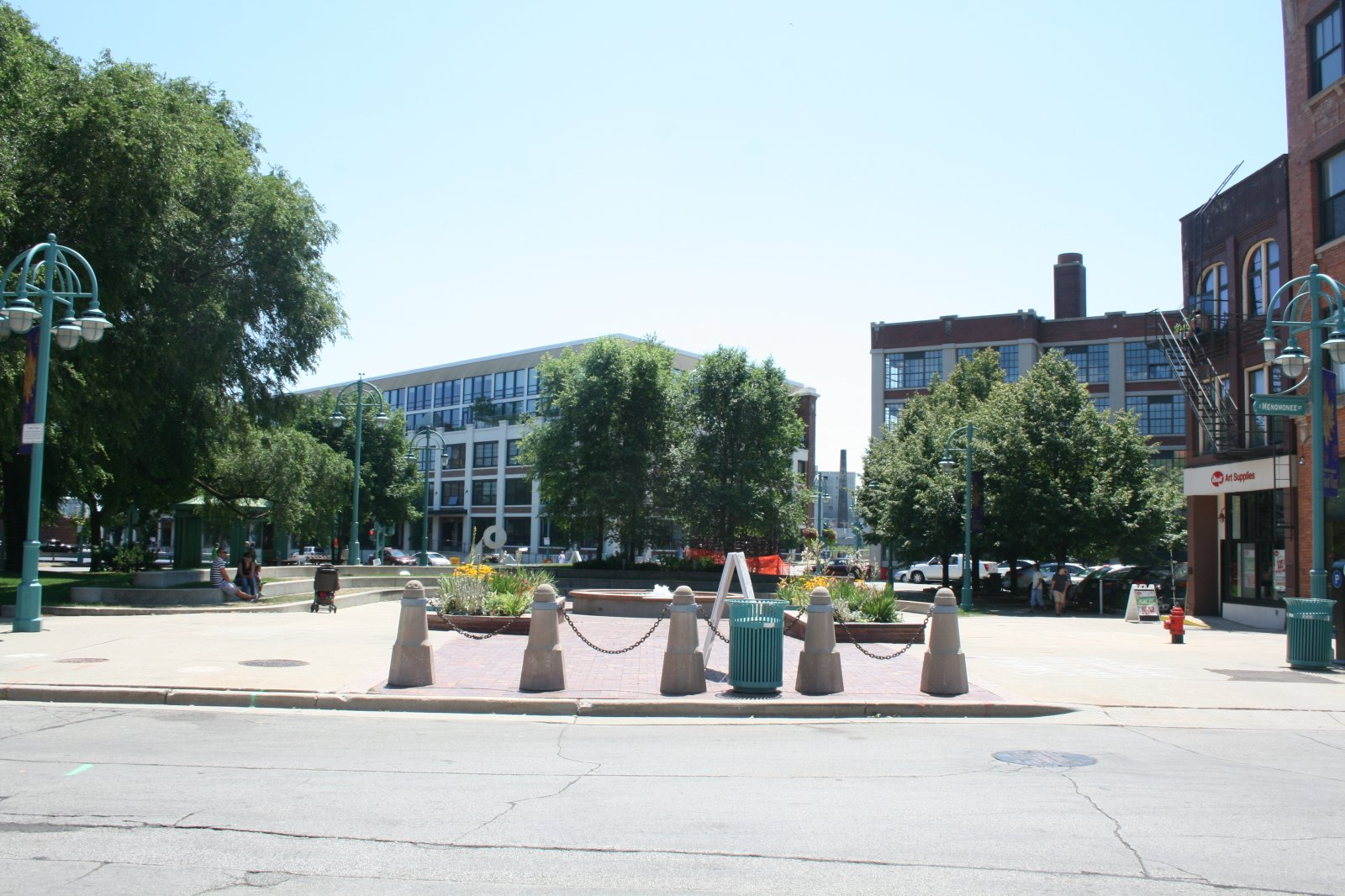 Catalano Square from the North