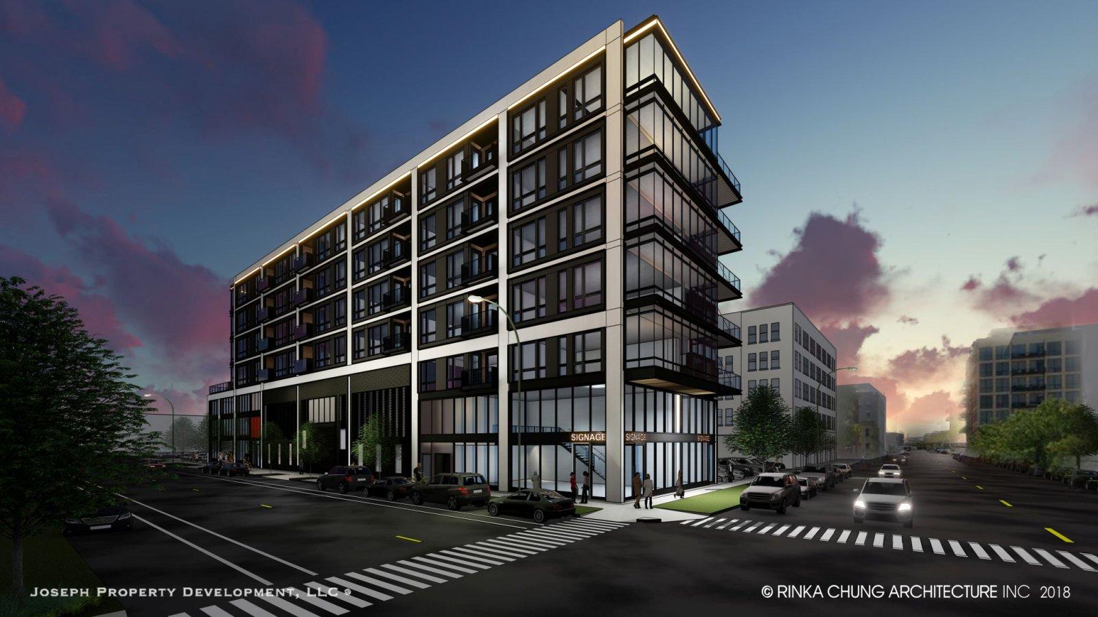 Joseph Property Development Third Ward Apartment Building Rendering