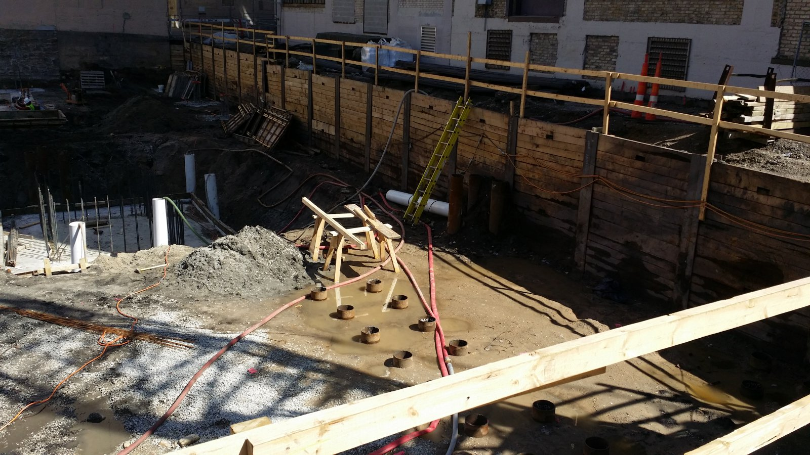 Construction of the Third Ward Kimpton Hotel.