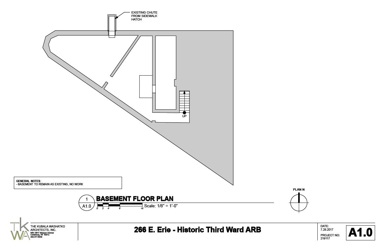266 E. Erie St. basement floor plan