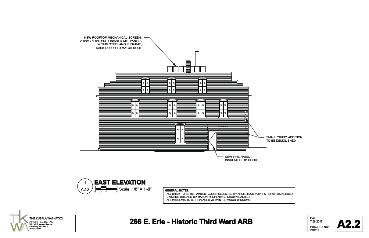 266 E. Erie St. east elevation