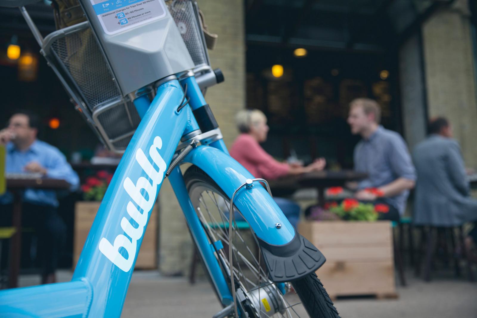 Bublr Bikes.