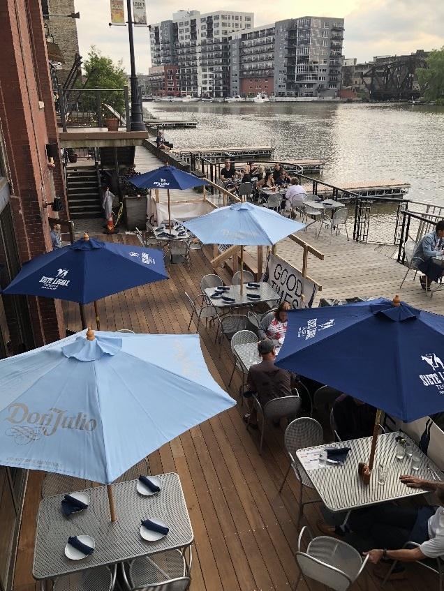 Blue Bat Kitchen & Tequilaria patio