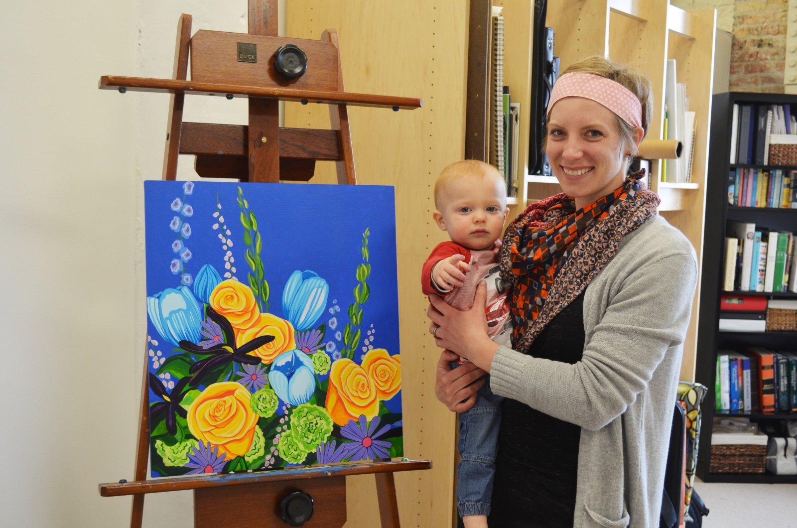 Caitlin Voigt and her son Ezra
