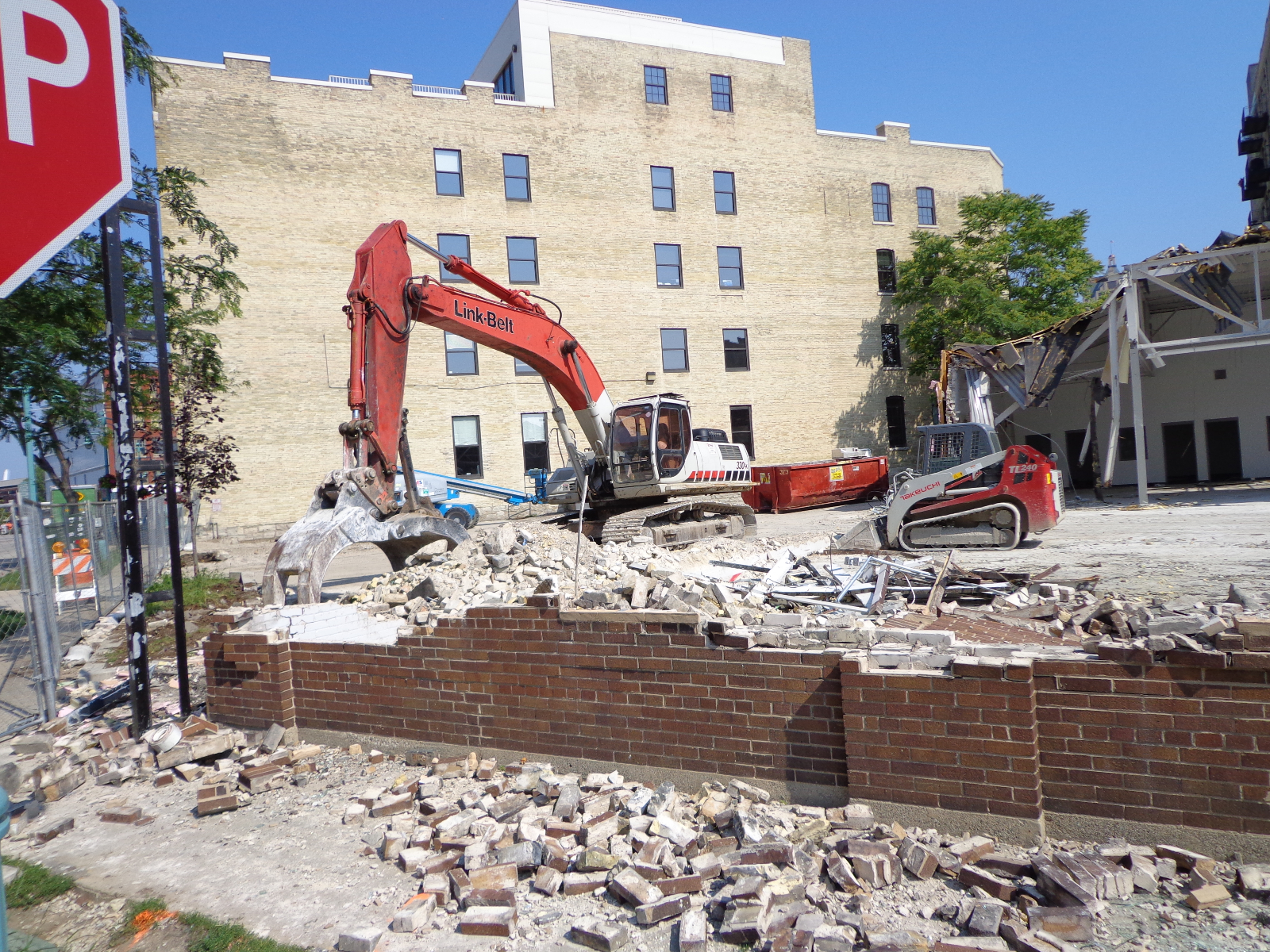 Demolition of 252 E. Menomonee St.