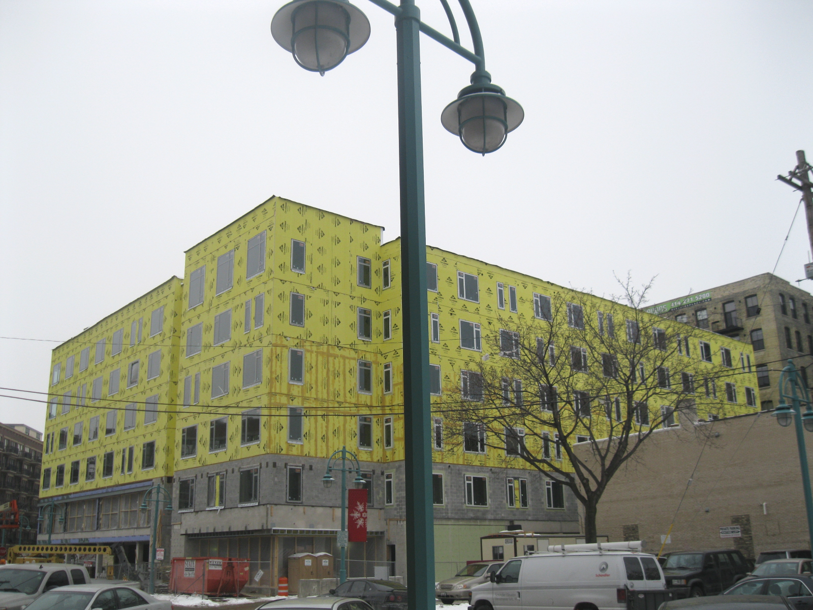 Two50Two MIAD Student Apartments nearing completion.