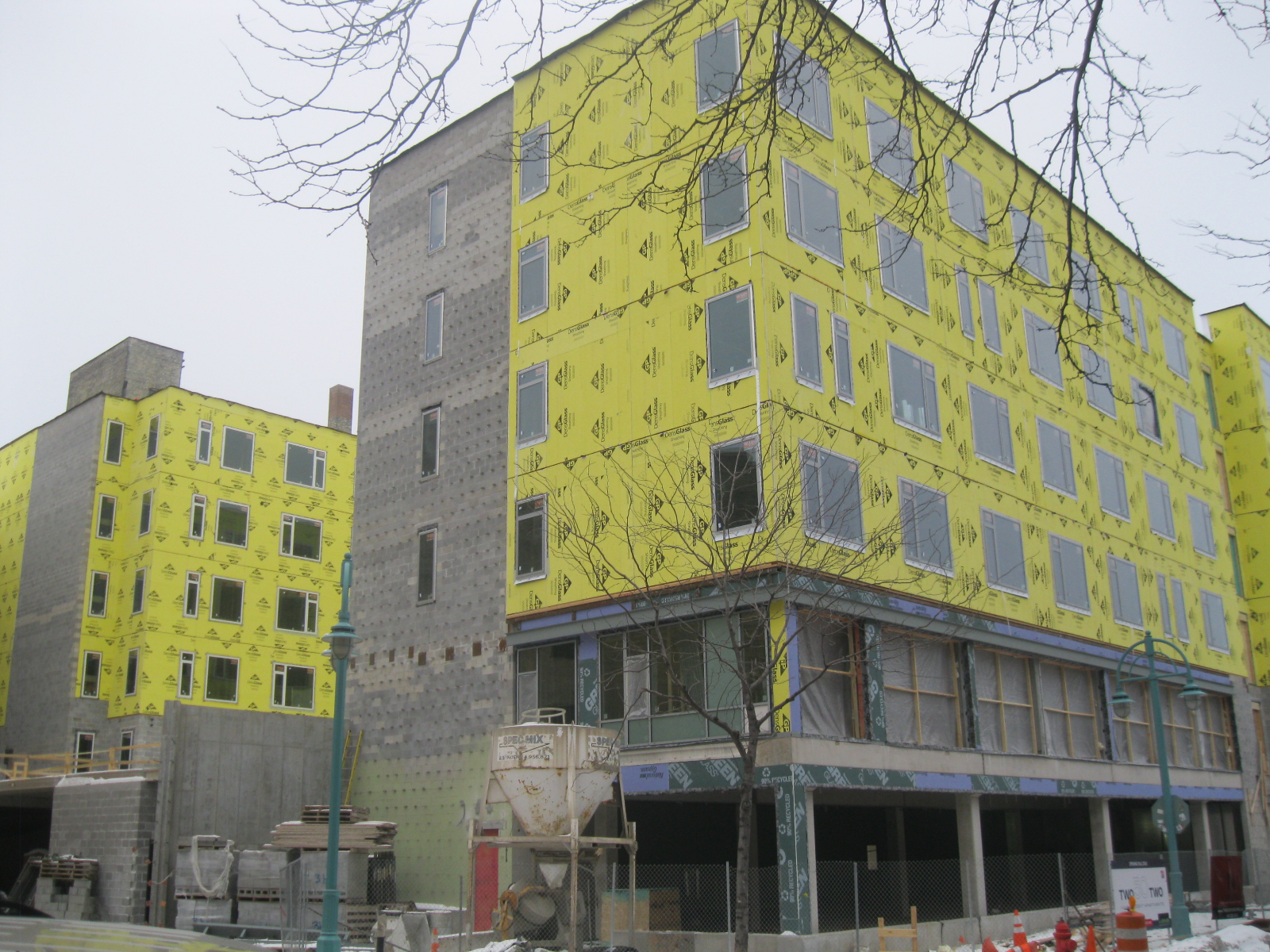 Construction of Two50Two MIAD Student Apartments is nearing completion.