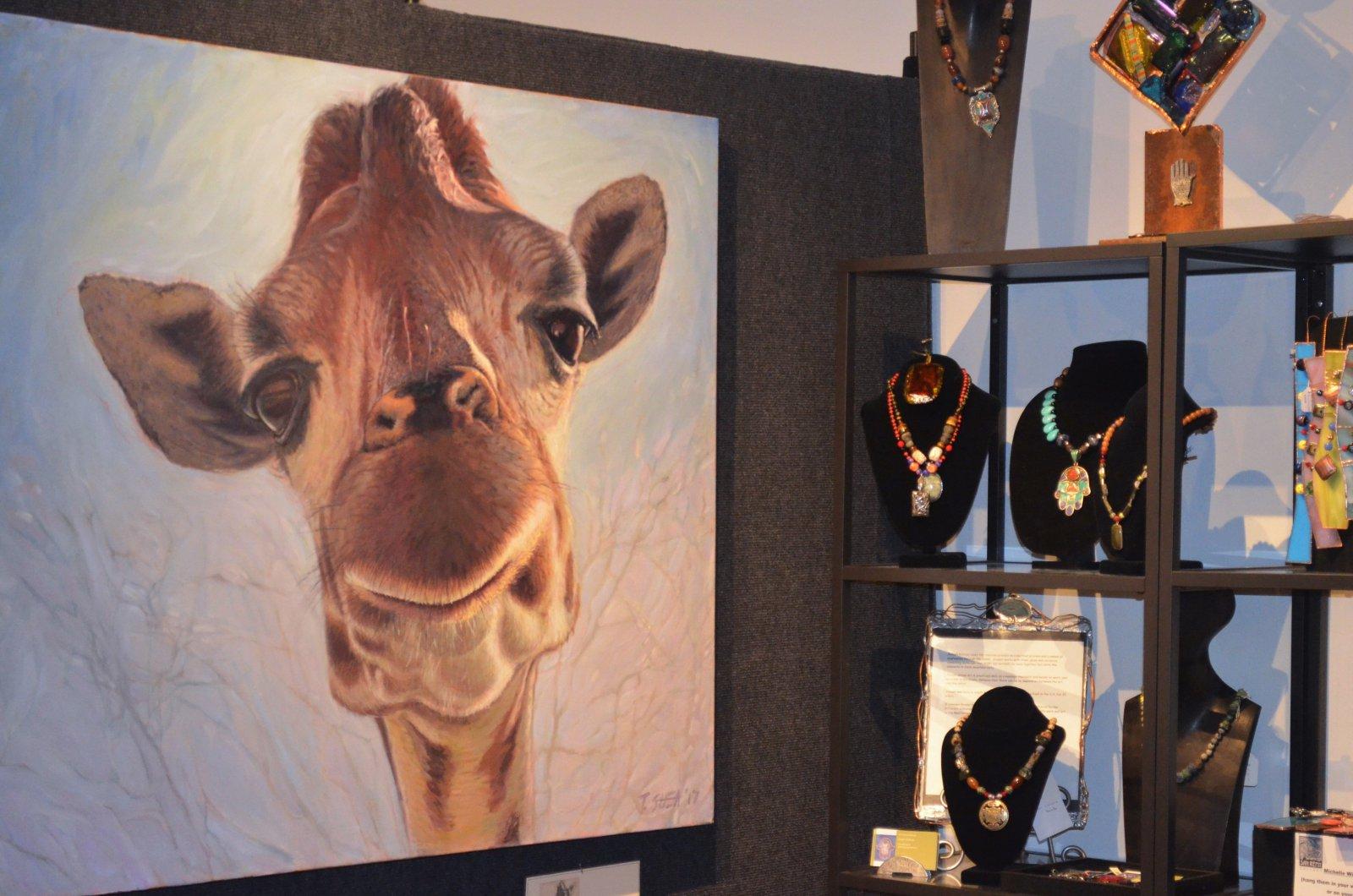 Giraffe painting by Thomas Shea