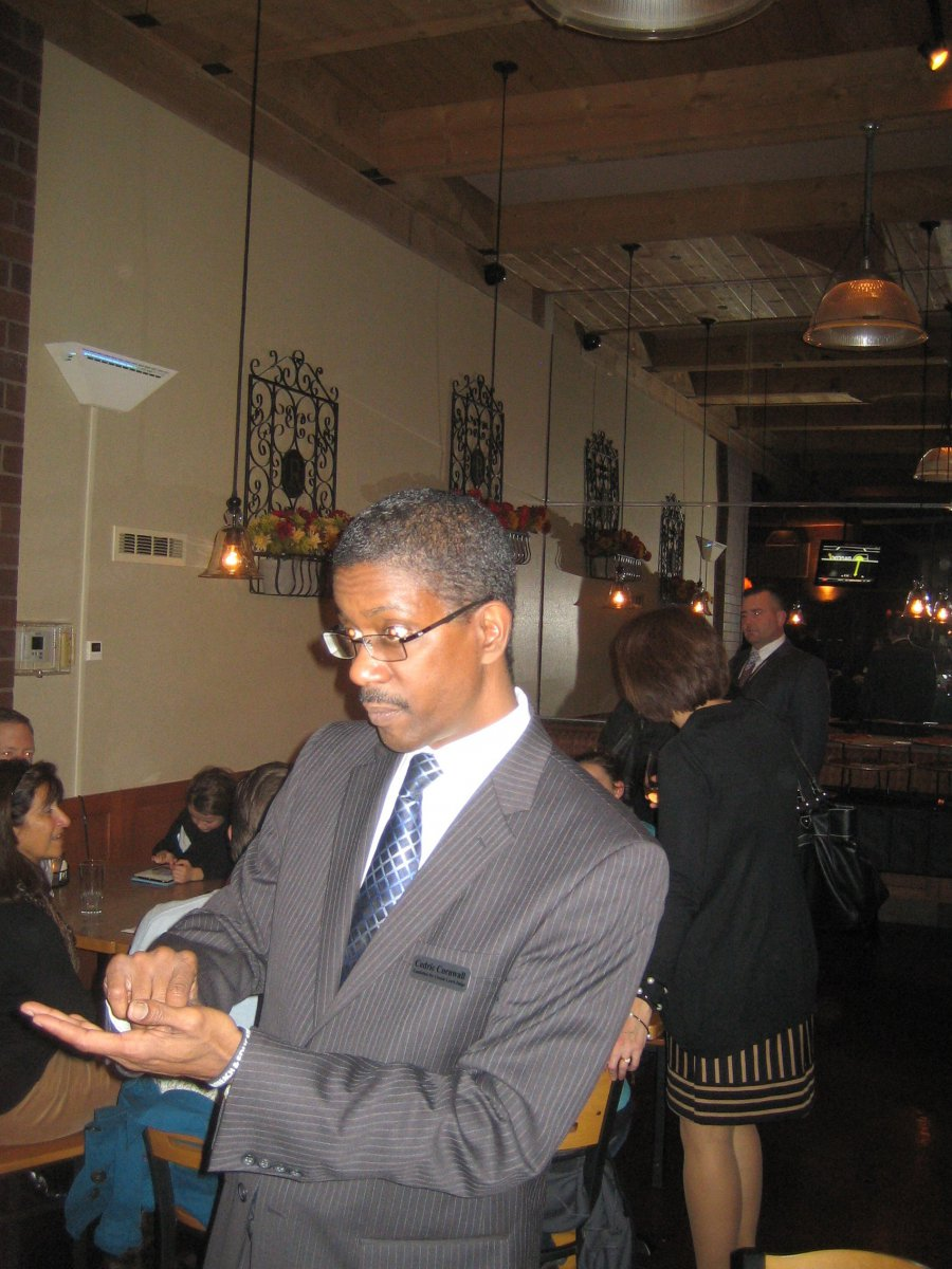 Cedric Cornwall at the Riverfront Pizzeria Bar & Grill.