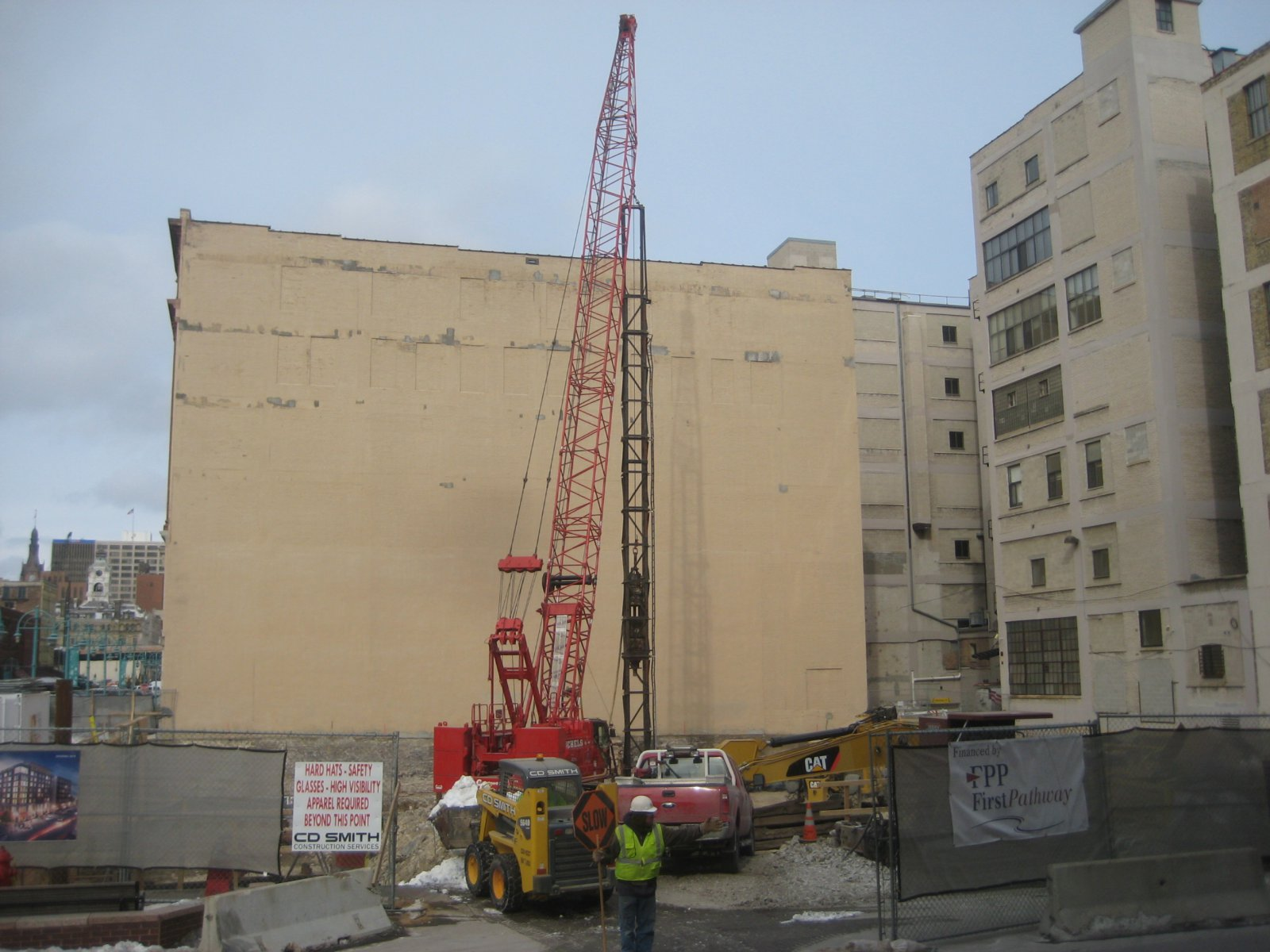 The Kimpton Hotel is under construction in the Third Ward.