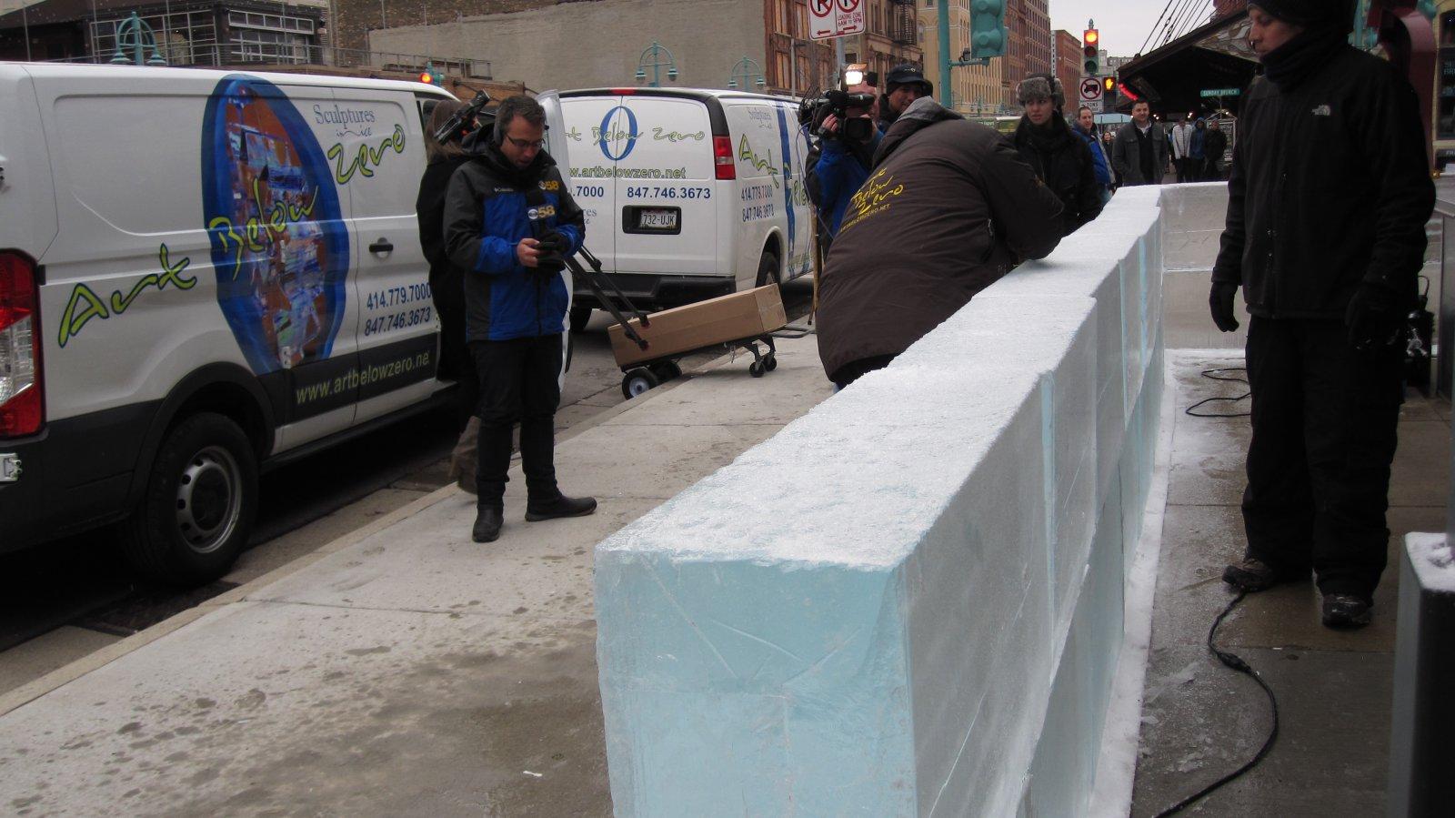 Building the ice bar