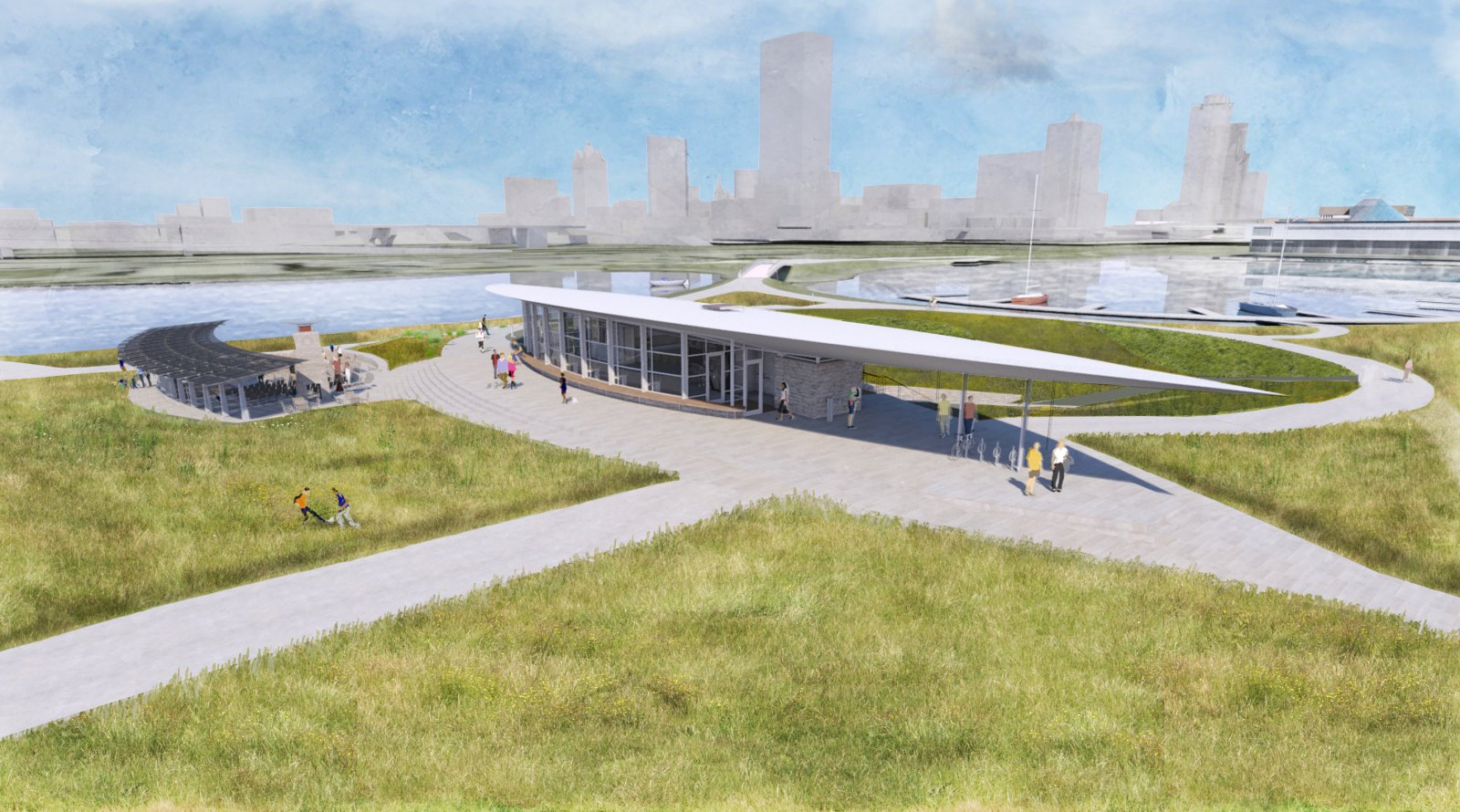 Visitor and Education Center on Lakeshore State Park Rendering