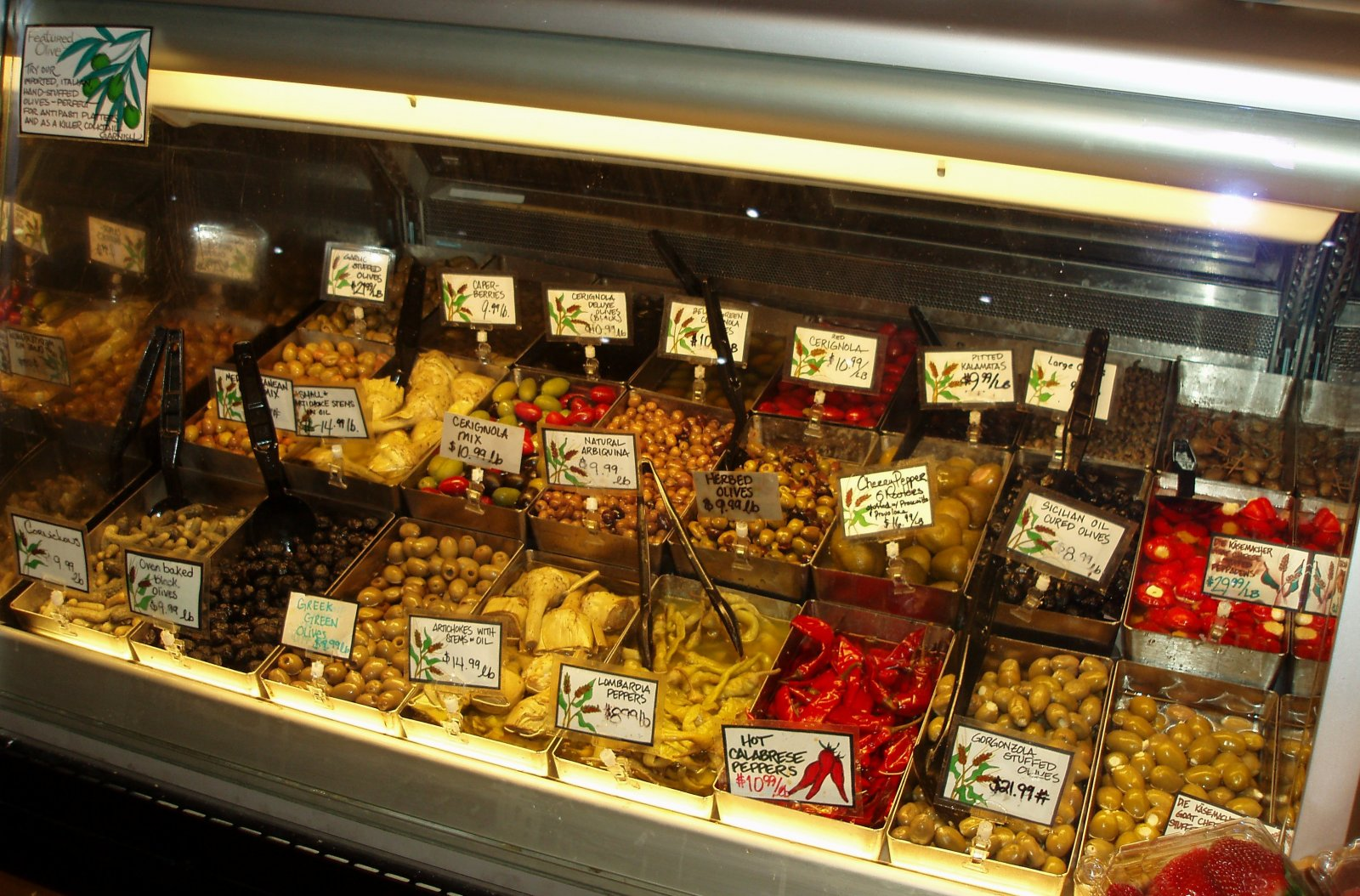 Olive fanciers might have a difficult time choosing just one selection from the deli case.