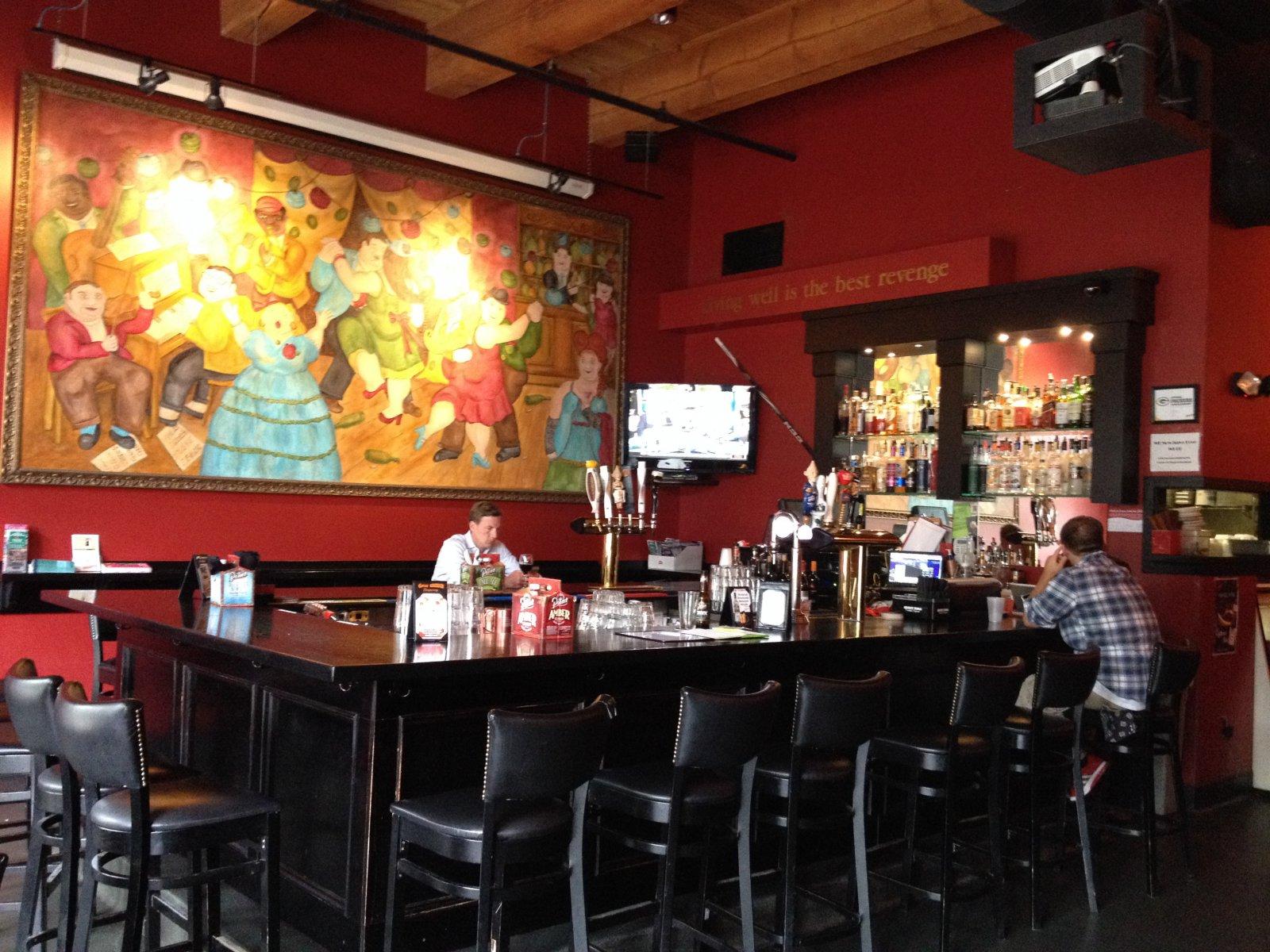 The bar at Club Charles