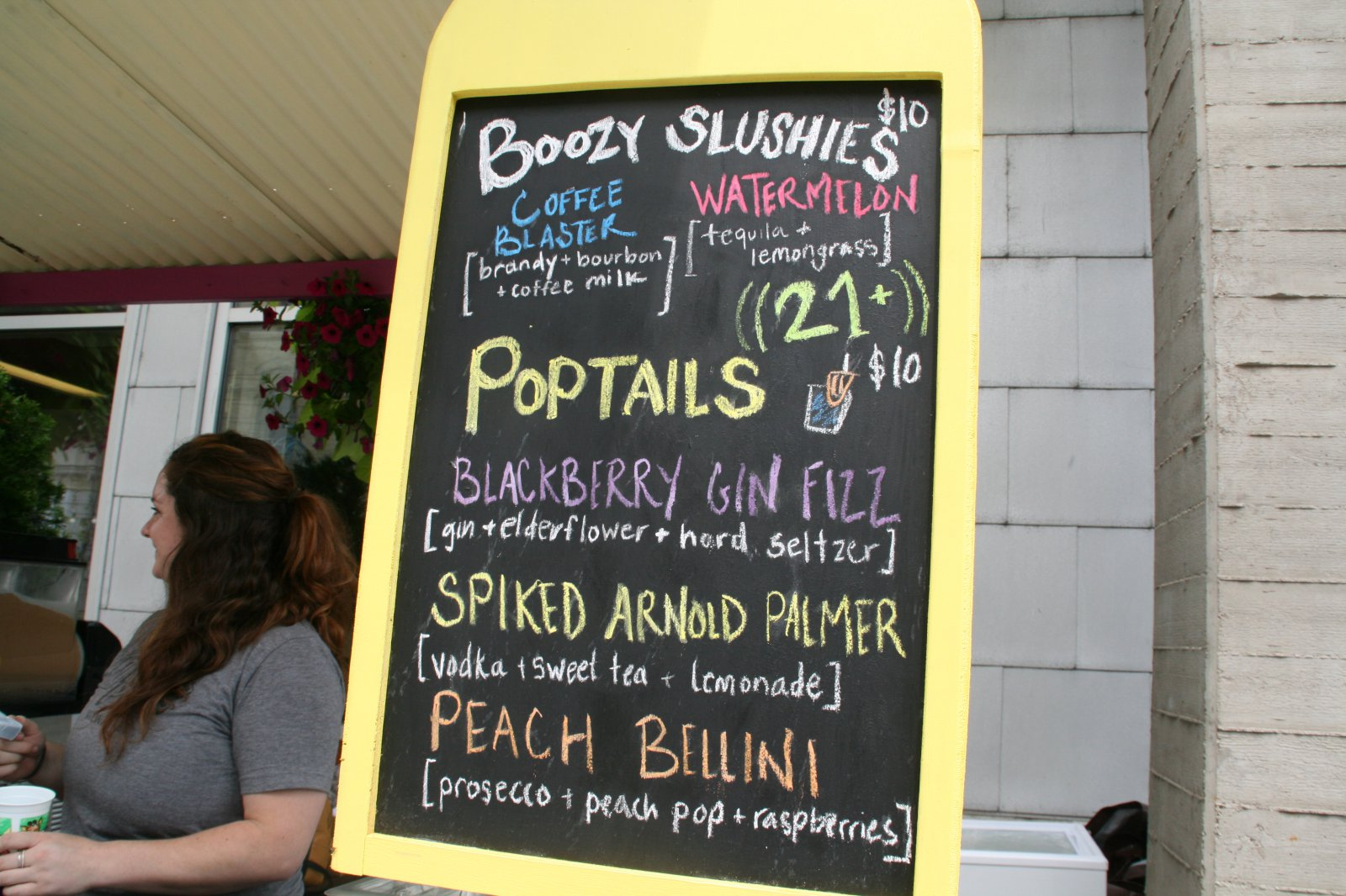 Alcoholic menu