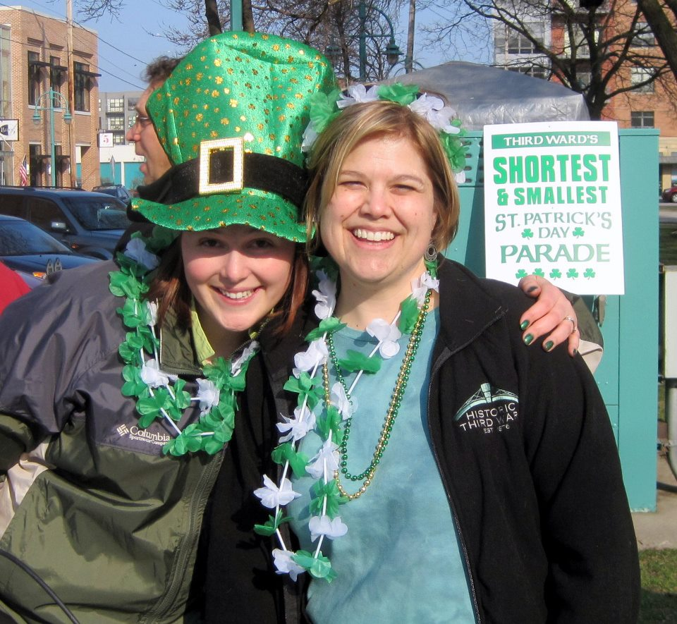 Kristin Amenson and Ruth Lawson Enjoying St. Paddy\'s Day.