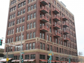 A shot of the Commission House condominiums in Milwaukee's Historic Third Ward.