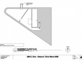 266 E. Erie St. basement floor plan