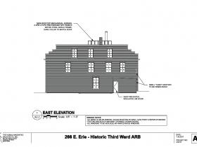 266 E. Erie St. east elevation