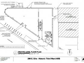 266 E. Erie St. ground level floor plan