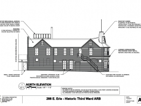 266 E. Erie St. north elevation