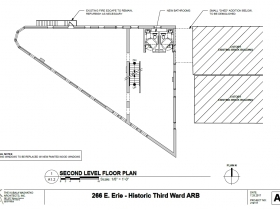 266 E. Erie St. second level floor plan