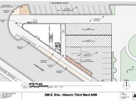 266 E. Erie St. site plan