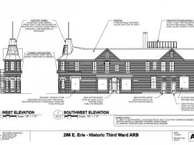 266 E. Erie St. southwest elevation