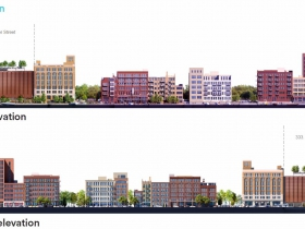333 Tower Elevations along N. Water St.