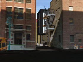 211 N. Broadway Alley Rendering.