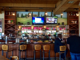 The bar at Riverfront Pizzeria