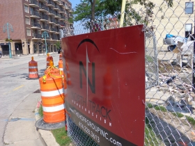 Demolition of 252 E. Menomonee St. to make way for MIAD's new residence hall.