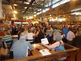 Streetcar social crowd visiting the Milwaukee Public Market. Photo by Michael Horne.