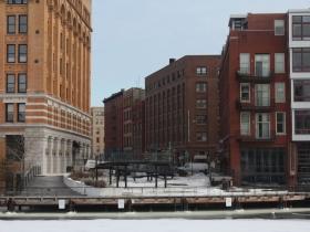 E. Buffalo Street as seen from W. Buffalo Street.