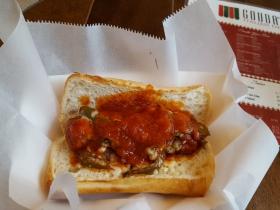 Gouda's Italian Deli Hot Sausage Sandwich
