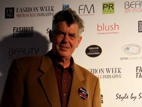 Michael Horne dressed the part for Fashion Week.