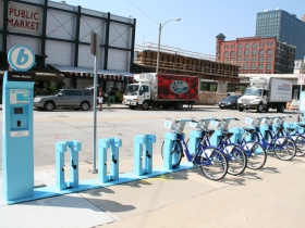 Bublr Bikes at the Milwaukee Public Market