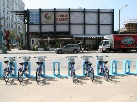Bublr Bikes at the Milwaukee Public Market