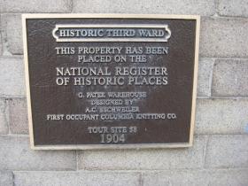 211 N. Broadway Historic Marker.
