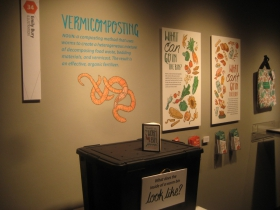 Vermiculture display by Emily Bury