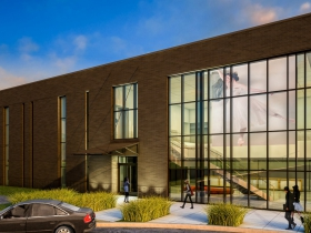 Rendering of Milwaukee Ballet's proposed building at 132 N. Jackson St