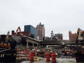 I-794 being demolished.