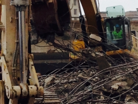 Demolition of I-794 is moving quick.