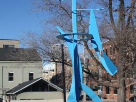Sculpture on E. Erie Street