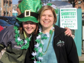 Kristin Amenson and Ruth Lawson Enjoying St. Paddy's Day.