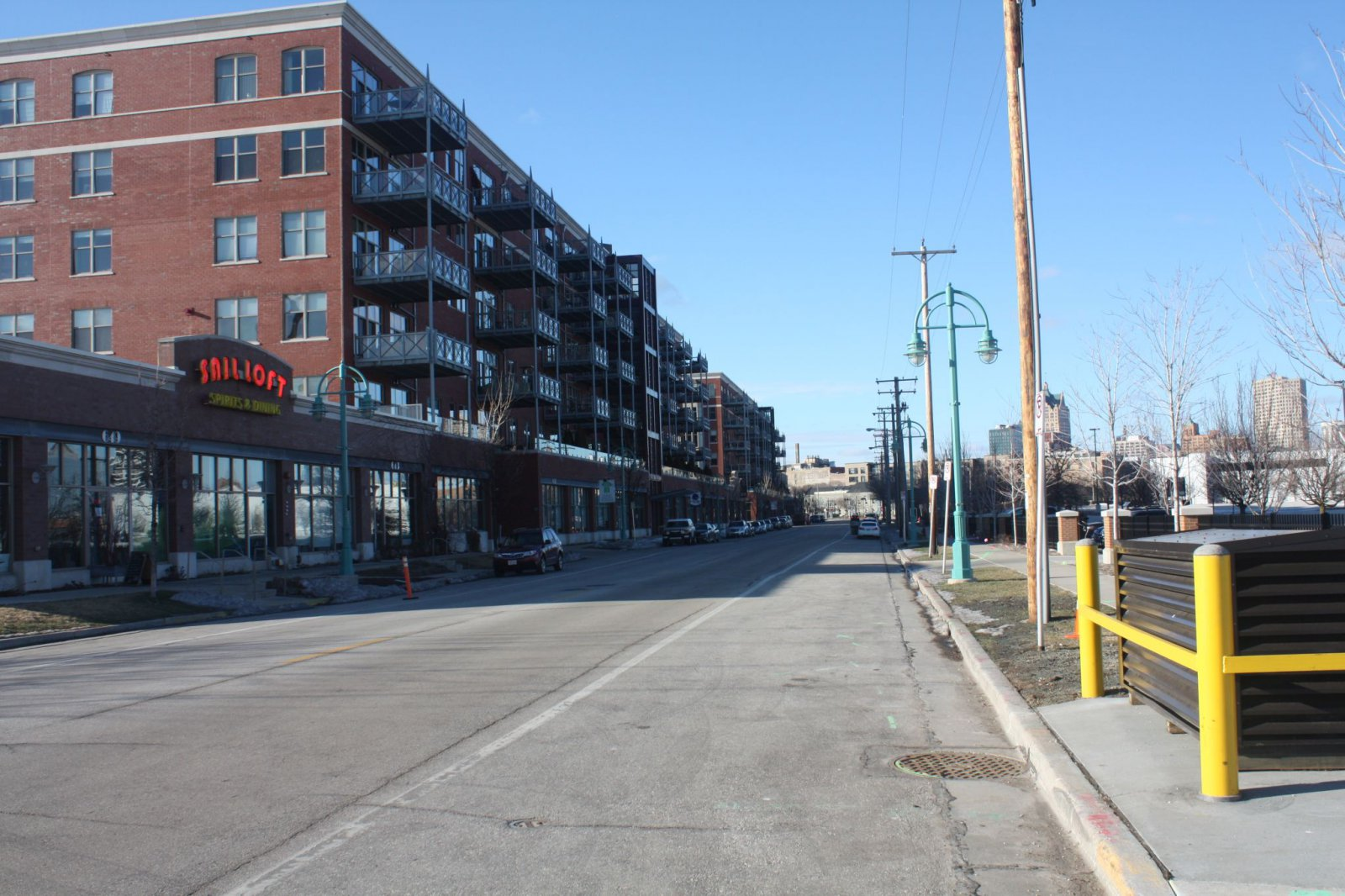 View of E. Erie Street