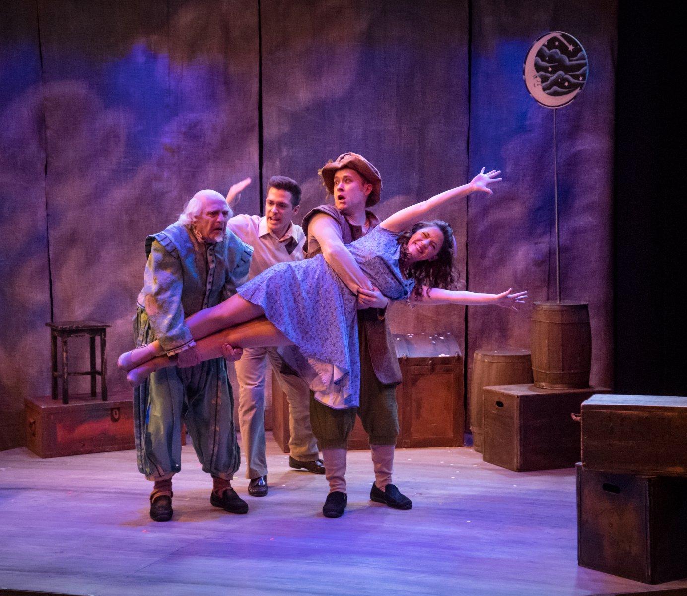 Robert Spencer (Henry), Keegan Siebken (Matt), Austin Dorman (Mortimer), and Susan Wiedmeyer (Luisa).