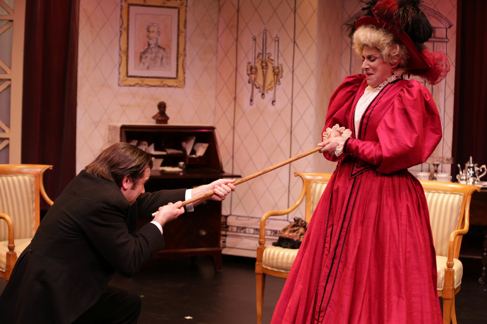 Zachary Thomas Woods (Jack), Angela Iannone (Lady Bracknell)